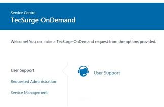 Creating a support request through the tecsurge ondemand web portal